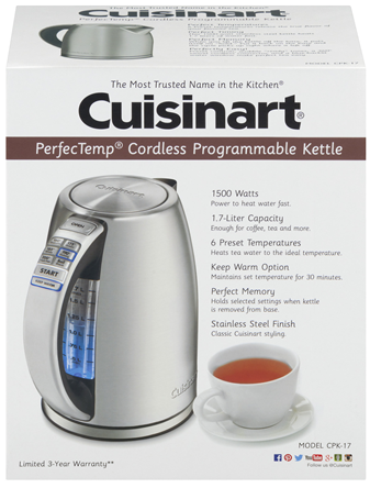 cuisineart variable temperature kettle box