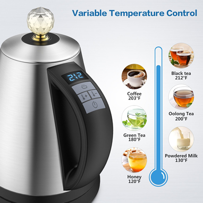 elechomes kettle temperature control