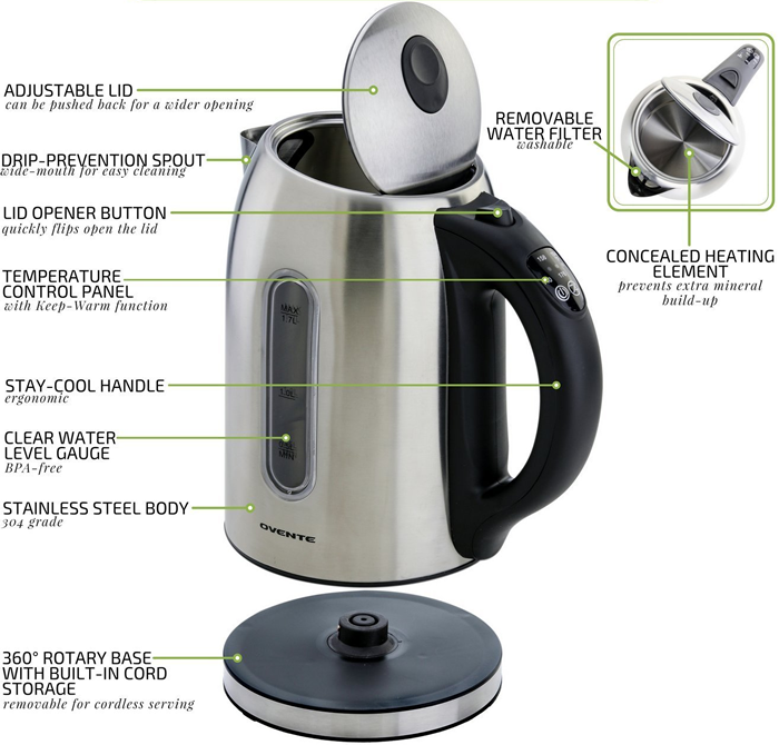 ovente kettle features overview