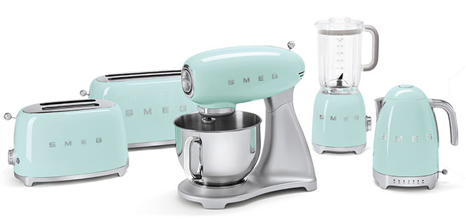 pastel green smeg products family