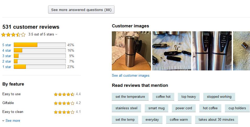 Amazon screenshot techtool travel mugs