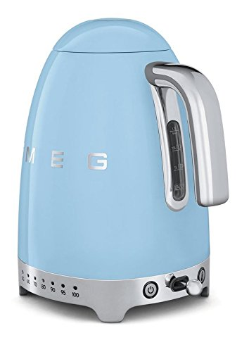 smeg blue programable temperature kettle