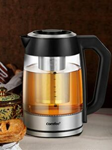 Comfy electric kettle with tea in fuser