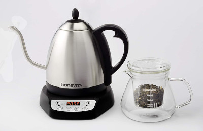 Bonavita variable kettle with tea glass  infuser