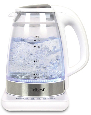 Tribest temperature controlled electric kettle