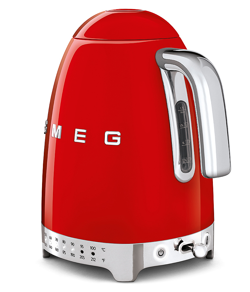 Smeg red temerature controlled ketlle