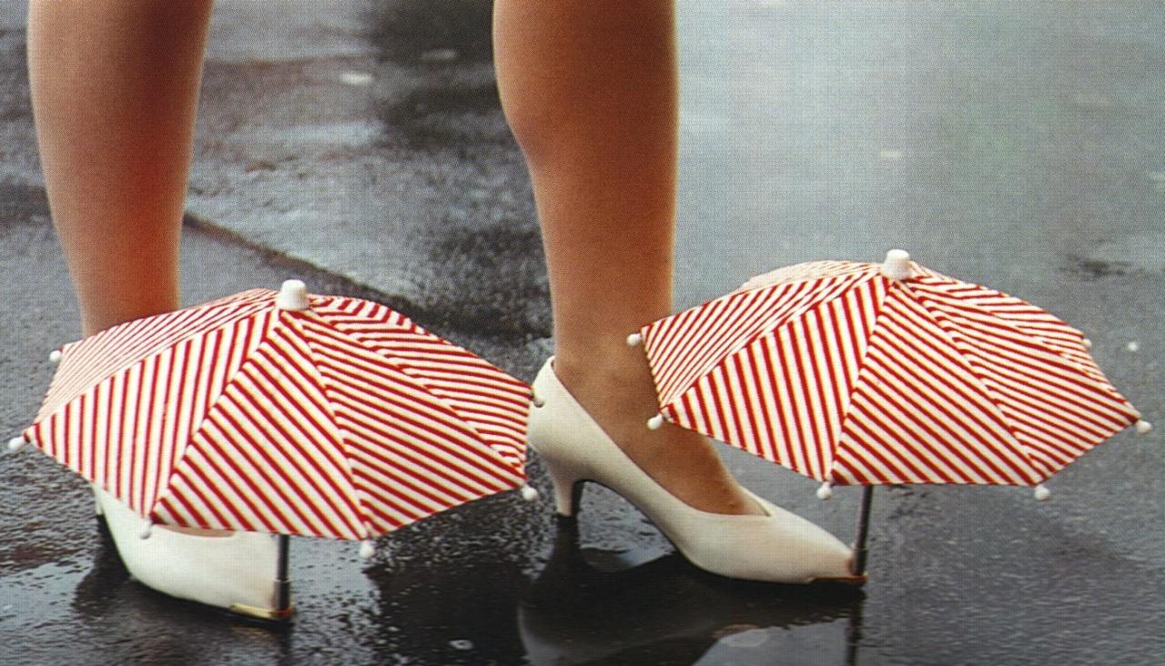 Useless shoe umbrellas